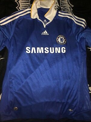 huge discount f54eb 8312a CHELSEA FOOTBALL CLUB Samsung Lampard Mens Jersey Large FC England Premier  Leg