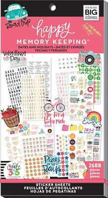 Happy Memory Keeping Sticker Value Pack Dates & Holidays, 2688/Pk 673808005258