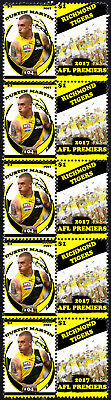 Dustin Martin Richmond Tigers 2017 Afl Grand Final Mint Stamp Strip