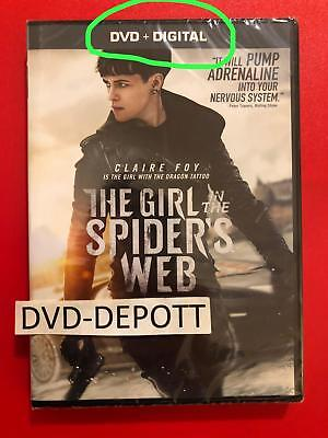 The Girl in the Spider's Web DVD + DIGITAL {{AUTHENTIC DVD READ}} New Free Shipp