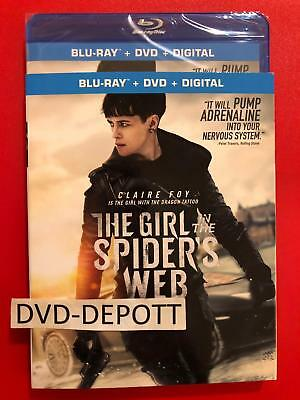 The Girl in the Spider's Web Blu-ray + DVD + Digital HD & Slipcover New Free Shp