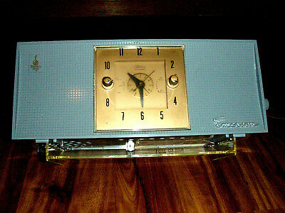 Vintage Emerson Tube Radio w/ Electric Clock, Model 825, 1950's Retro,  As-is