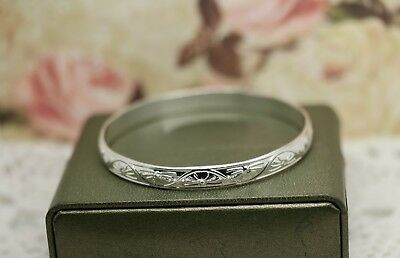 Antique Victorian Jewellery Sterling Silver Bangle Vintage Jewelry Hallmarks
