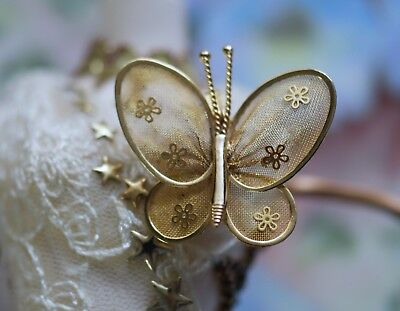 Antique Jewellery Butterfly Brooch Dress Vintage Jewelry