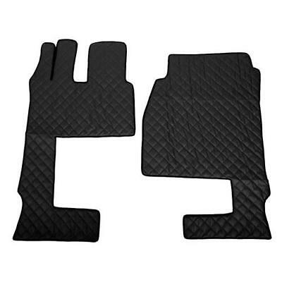 Coppia tappeti in similpelle Nero per Mercedes Actros MP4 09/11> cabina (3tk)
