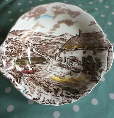 Quiet Day W H Grindley Serving Bowl Staffordshire Pottery