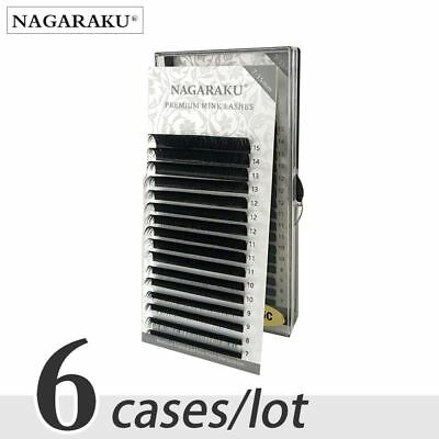 Faux Mink Eyelashes Extension NAGARAKU Natural Soft Pro 6 cases set 7~15mm MIX