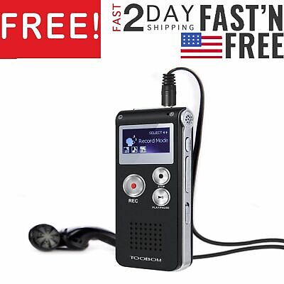 Paranormal Ghost Hunting Equipment Digital Evp Voice Activated Recorder Usb 8Gb