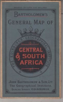 Bartholomews General Map Of Central & South Africa :