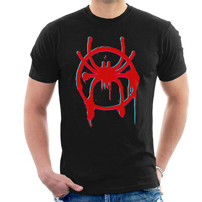 Distorted Spider Man Into The Spiderverse Spray Paint Men's T-Shirt