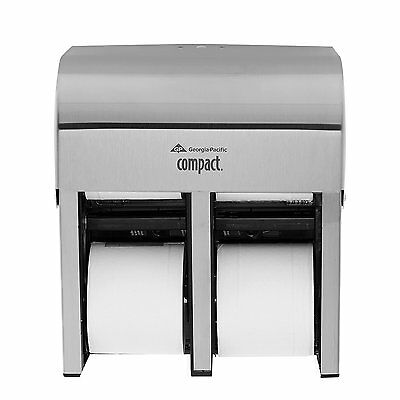Georgia-Pacific Compact 56748 Stainless Steel Quad Vertical Four Roll Coreless