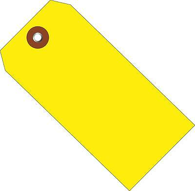 """G26052 Plastic Tags, 4 3/4"""" x 2 3/8"""", Yellow (Pack of 100)"""