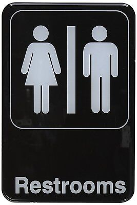 Winco SGN-603 Sign, 6-Inch by 9-Inch, Restrooms 1 PC