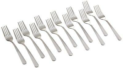 Winco 0001-06 Dominion Salad Fork Set, 18-0 Stainless Steel 12-Piece