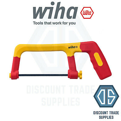 WIHA 43125 VDE Hacksaw Electric Insulated With Three Saw Blades 150mm FREE P&P
