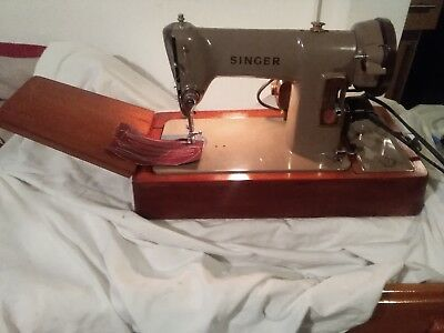 Vintage Singer 185k electric sewing machine SEE IT ON YOUTUBE virtually unmarked
