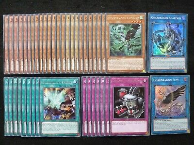Yu-Gi-Oh 42 Card Guardragon Deck  *Ready To Play*