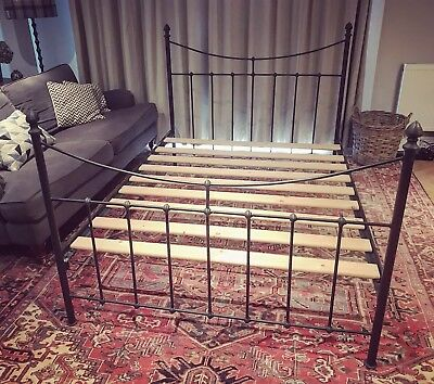 Vintage Cast Iron Double bed frame