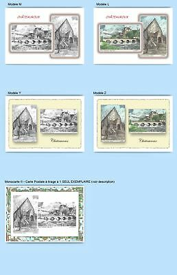 Cp Cpa Cpm Cpsm 4 Cartes Postales Diff. + 1 Monocarte 36009-36023 Chateauroux