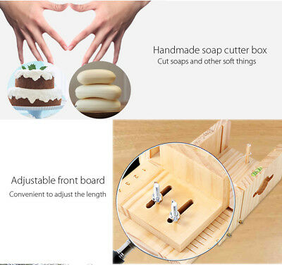 Household Wooden Soap Cutter Box Pine Material Balancing Apparatus Accurate Adju
