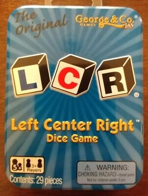 LCR Left Center Right Dice Game Tin