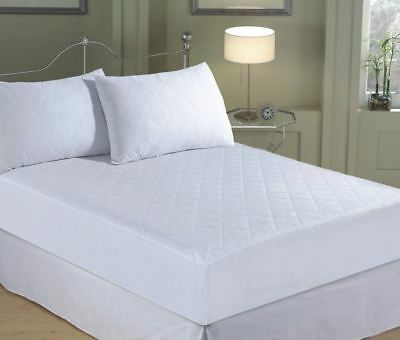 Quilted Mattress Protector Topper Extra Deep 30cm Hollowfibre Polyester Filling