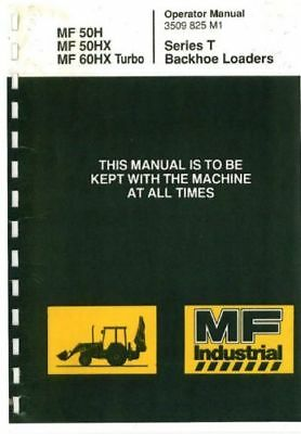 Massey Ferguson MF 50H MF 50HX MF 60HX Turbo Series T Backhoe Loader Manual 0018