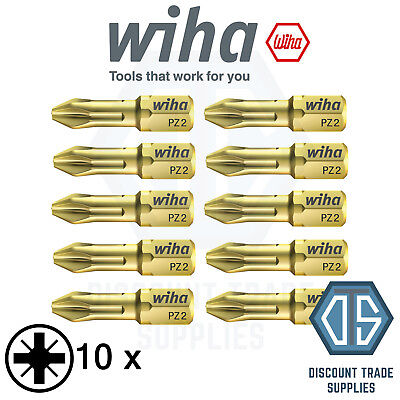 10 x Wiha 20584 HOT TORSION BIT PZ2 x 25mm