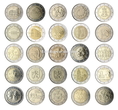 #Rm# All 2 Euro Commemorative From 2017 Unc - 25 Coins