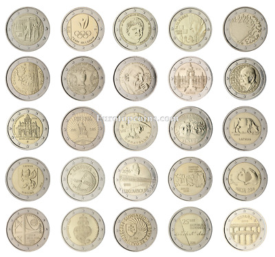#Rm# All 2 Euro Commemorative From 2016 Unc - 25 Coins