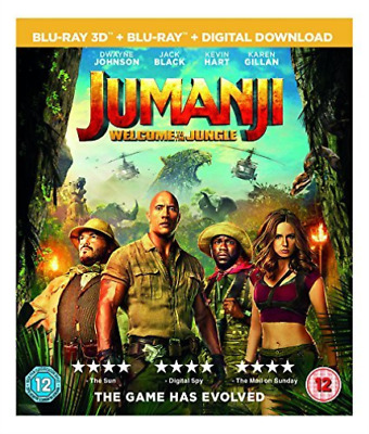 Jumanji: Welcome To The Jungle (Blu-ray & 3D Blu-ray) BLU-RAY NEUF