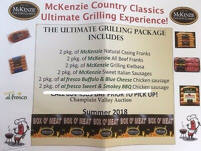 McKenzie Country Classics BOX O' MEAT CERTIFICATE