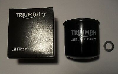 GENUINE TRIUMPH OIL FILTER with SUMP PLUG WASHER T1218001 & T3558989
