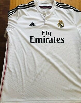9b024ff8f8 Real Madrid jersey 2XL 2014 15 Home White MENS adidas shirt soccer football