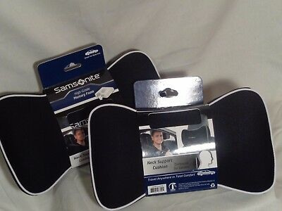 Black Samsonite Neck Support Cushion Pillow | High-Grade Memory Foam Lot of 2