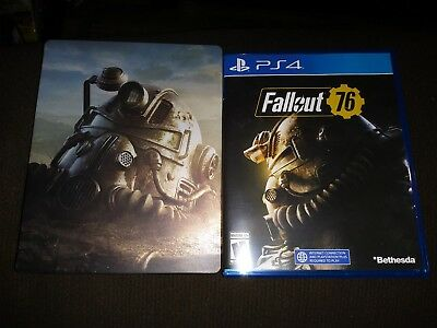 Fallout 76 PS4 game with Steelbook case and plastic case