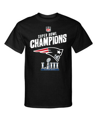 Super Bowl LIII Champions New England Patriots Trophy 2 Graphic T-Shirt