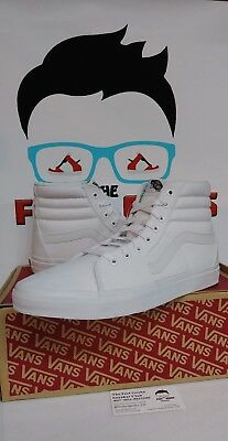 d290d6a84e VANS SK8 HI True White Men s Shoes Size 13 Brand New With Box ...