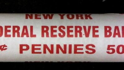 1974 P Bu Roll Lincoln Memorial Cents *Key Date Sealed & Unsearched  Red Coins