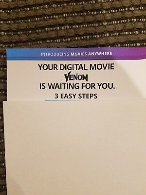 Venom digital code from Blue Ray