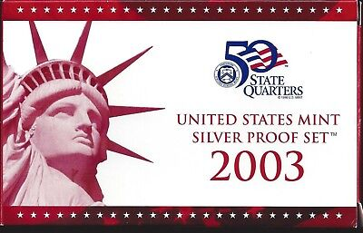 2003-S Us Mint Silver Proof Set - 10 Coin Set - With State Quarters