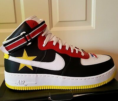 new products 4407b f443f Nike Air Force 1 Hi RT Victorious Minotaurs Black Red Yellow AQ3366-600  Size 10