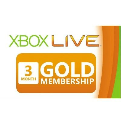 3 Month (90 Day) Xbox Live Gold Subscription Card Membership Code