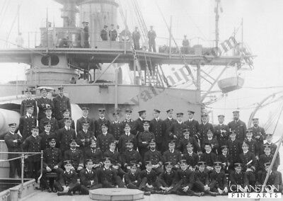 Naval post card. HMS Duncan Crew  Photo of Officers Royal navy battleship