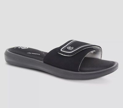 0d26f52e4f5ac NWT WOMEN S C9 by Champion Cushion Fit Sandals Slides Black Lalee ...
