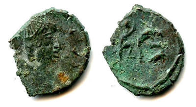 Nice imitation of a Roman AE3, struck in Sri Lanka, 400s AD (FEL TEMP REPARATIO)