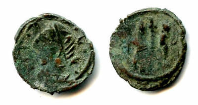 Rare type  Roman AE3 struck in Sri Lanka, 400s CE (bust left, GLORIA EXERCITVS)