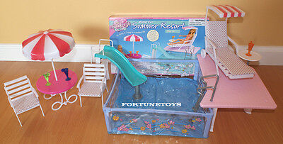 Gloria Doll House Furniture Water Fun Summer Resort W/ Pool Playset For Barbie