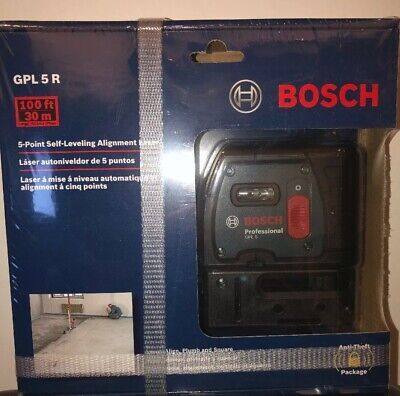 BOSCH GPL 5R 100 FT 5 Point Self-Leveling Alignment Laser