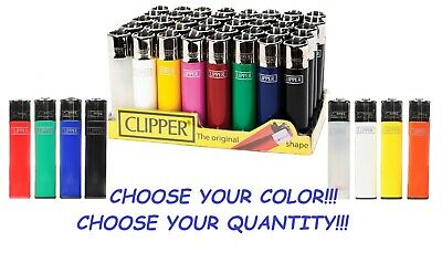 BIG Size CLIPPER Refillable Full Lighters Mix Solid Color CIGARETTE LIGHTER